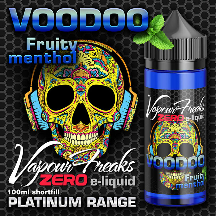 VooDoo - Vapour Freaks Zero - 100ml - fruity menthol