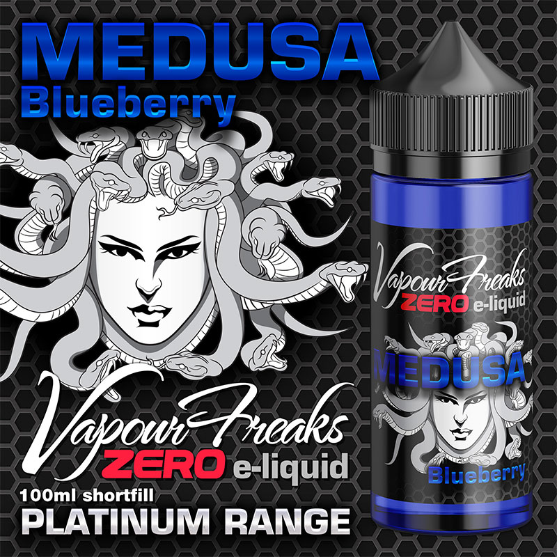 Medusa - Vapour Freaks Zero - 100ml - blueberry