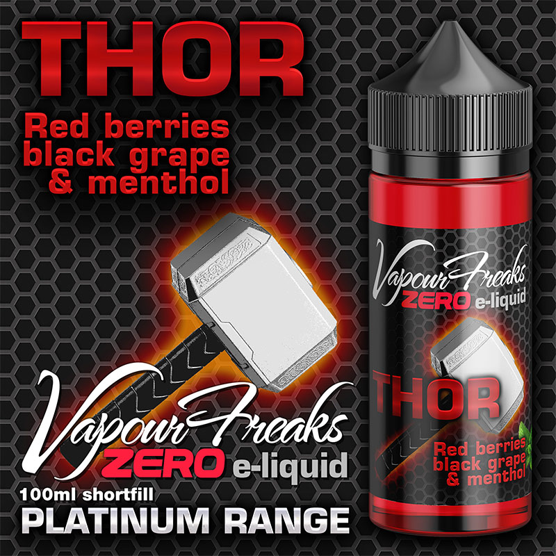 Thor - Vapour Freaks Zero - 100ml - red berries, black grape and menthol