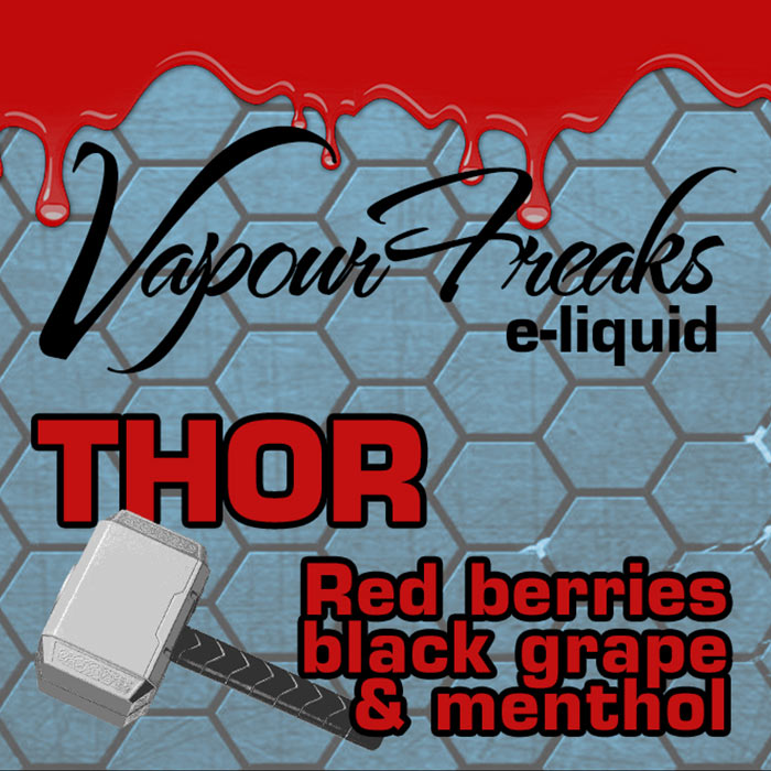 Thor - Vapour Freaks 40ml - Red berries, black grape and menthol