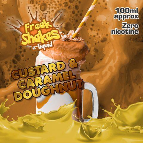 Custard and Caramel Doughnut - Freak Shakes - 100ml
