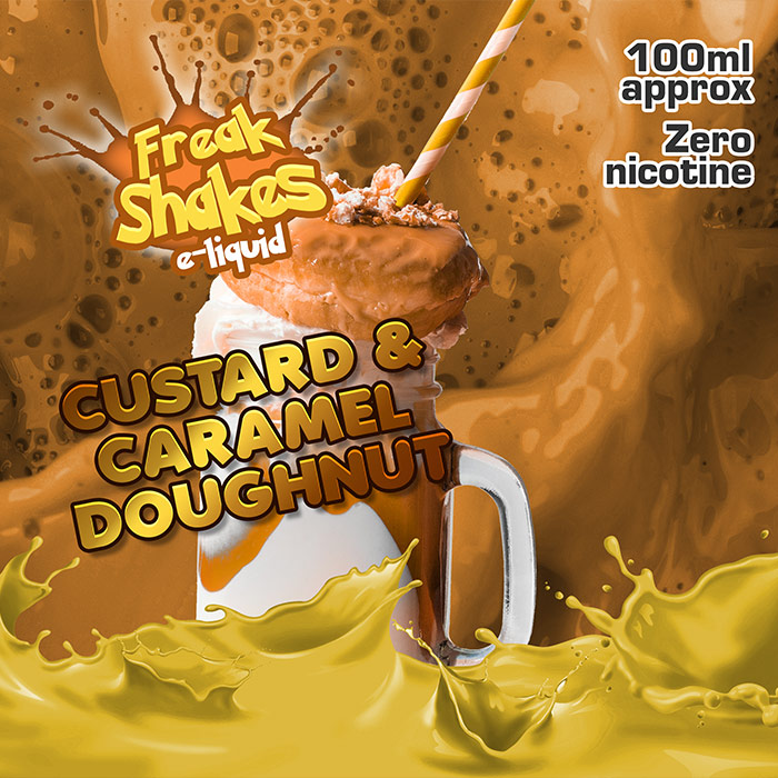Custard and Caramel Doughnut - Freak Shakes - 100ml