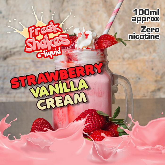 Strawberry Vanilla Cream - Freak Shakes - 100ml