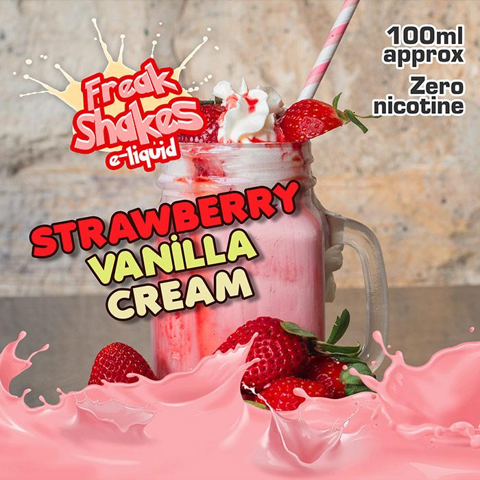 Strawberry Vanilla Cream - Freak Shakes - 100ml