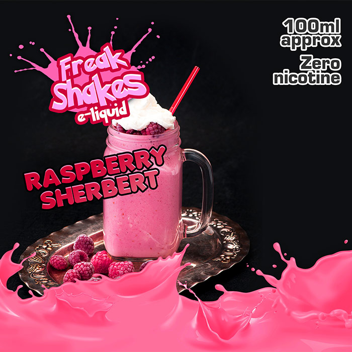 Raspberry Sherbert - Freak Shakes - 100ml