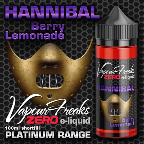 Hannibal – Vapour Freaks Zero – 100ml – berry lemonade
