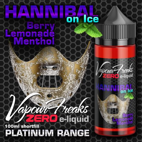 Hannibal on Ice – Vapour Freaks Zero – 100ml – berry lemonade menthol