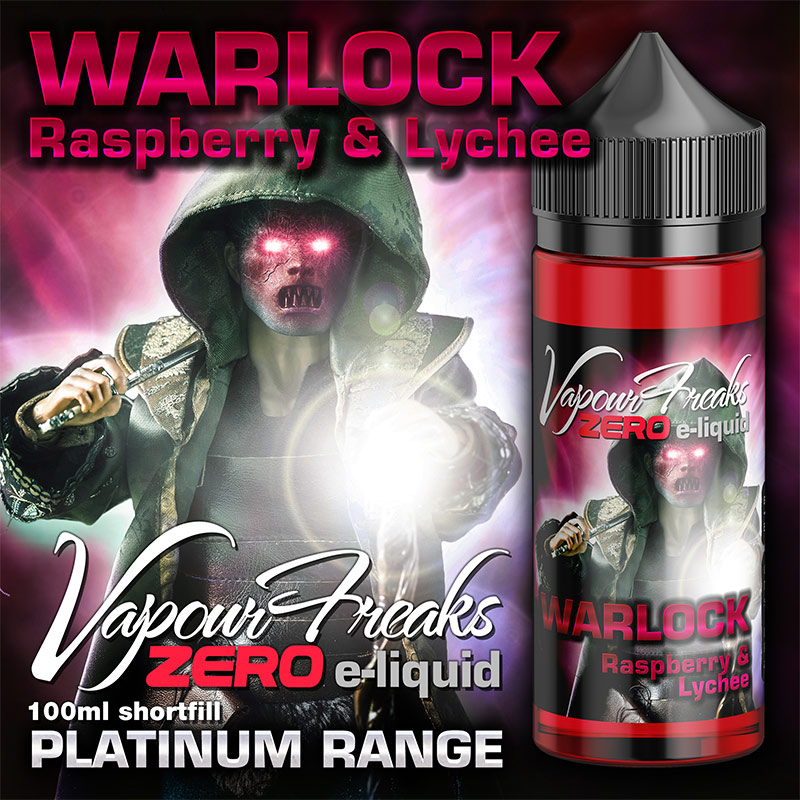 Warlock – Vapour Freaks Zero – 100ml – Raspberry and Lychee