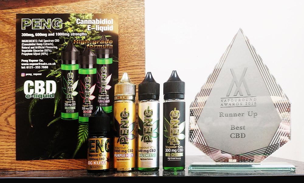 Peng CBD eliquid Vapouround award 2018