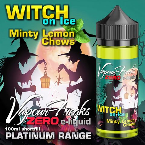 Witch on Ice - Vapour Freaks Zero - 100ml - minty lemon chews
