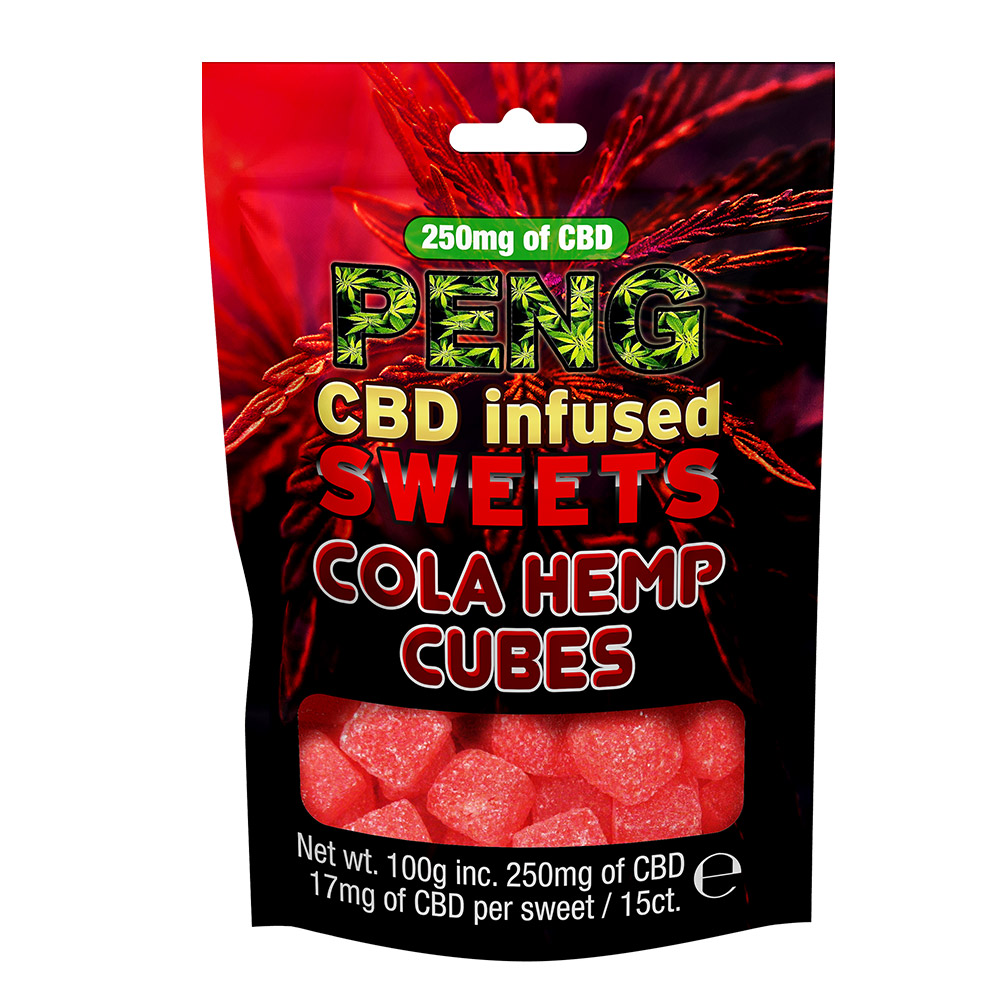 PENG CBD infused snacks and sweets