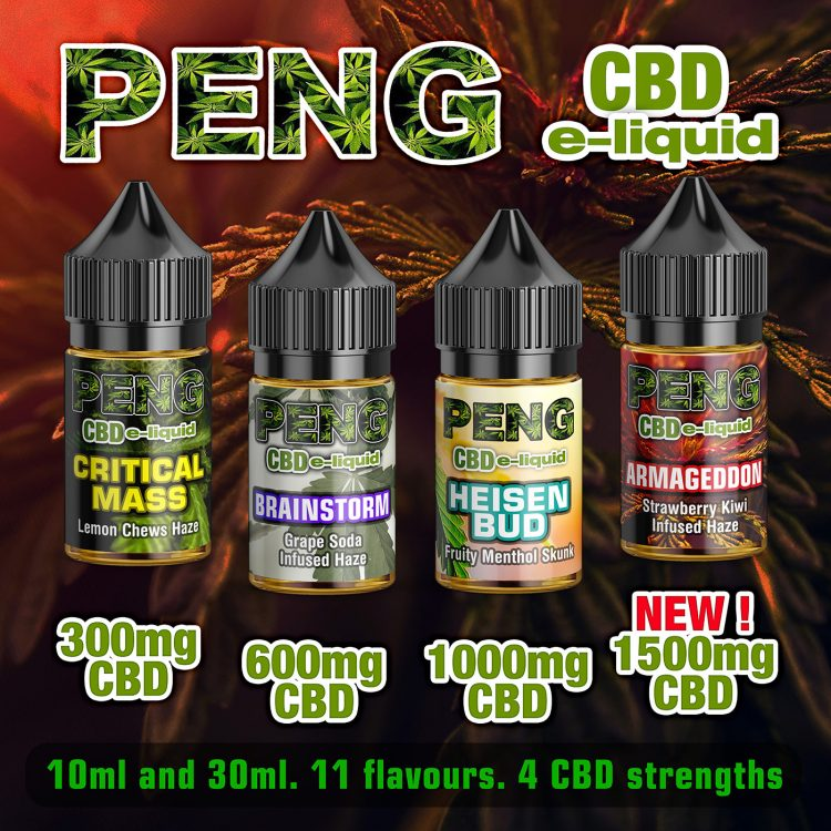 High-strength 1500mg PENG CBD e-liquid now available.