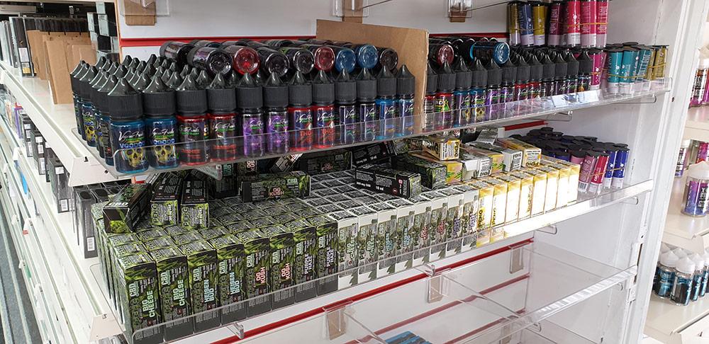 Vapour Freaks CBD e-liquids on the shelves