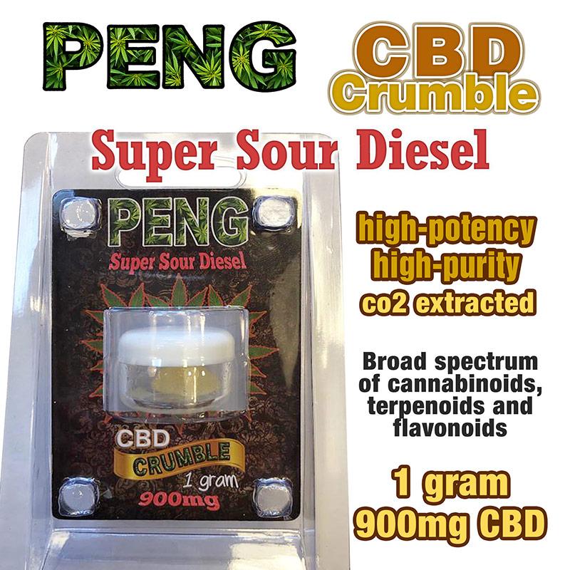PENG CBD crumble Super Sour Diesel