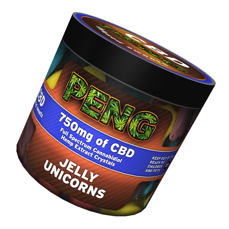 Jelly-unicorns-PENG-CBD-infused-sweets