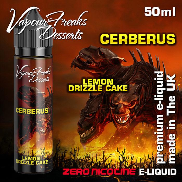Cerberus - Vapour Freaks Desserts - lemon drizzle cake