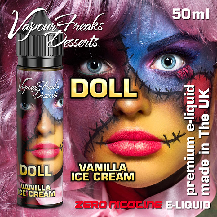 Doll - Vapour Freaks Desserts - vanilla ice cream