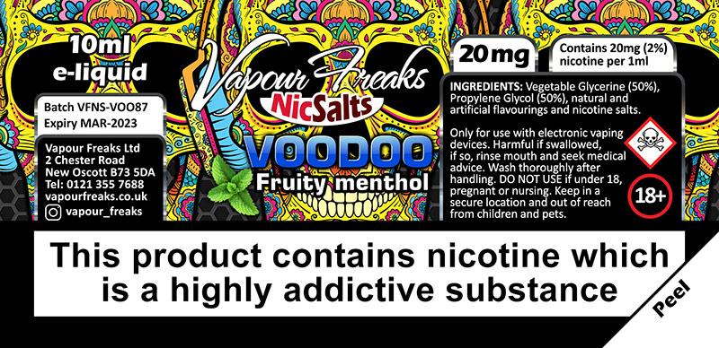 Vapour Freaks NicSalts e-liquids wholesale