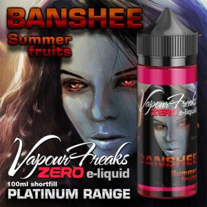 BANSHEE - Vapour Freaks ZERO e-liquid - 70% VG - 100ml