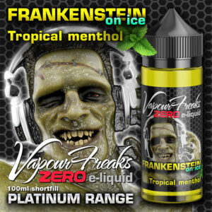 FRANKENSTEIN ON ICE - Vapour Freaks ZERO e-liquid - 70% VG - 100ml