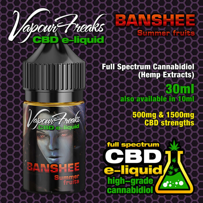 Banshee - Vapour Freaks CBD e-liquid 30ml
