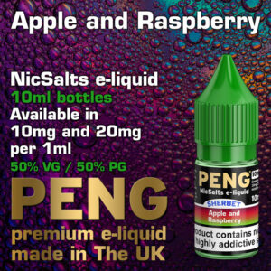 Apple and Raspberry - Peng NicSalts e-liquids - 10ml
