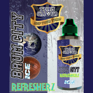 Brum City Refresherz Ice - Team Vapour e-liquid - 70% VG - 100ml