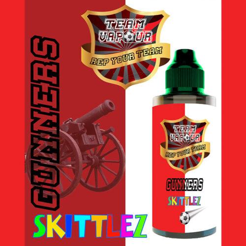 Gunners Skittlez - Team Vapour e-liquid - 70% VG - 100ml