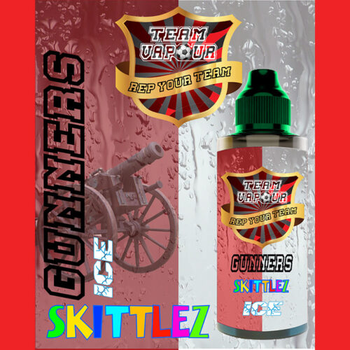 Gunners Skittlez Ice - Team Vapour e-liquid - 70% VG - 100ml