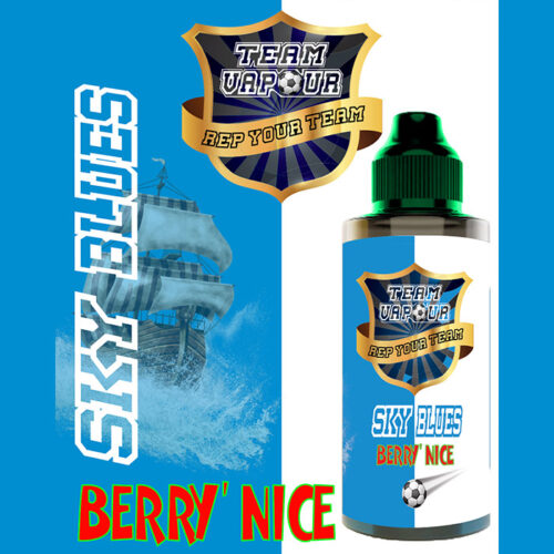 Sky Blues Berry Nice - Team Vapour e-liquid - 70% VG - 100ml
