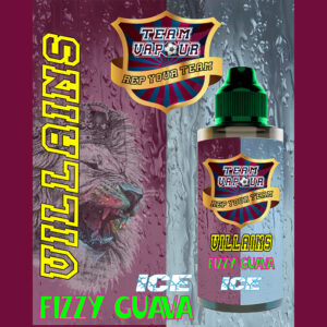 Villians Fizzy Guava Ice - Team Vapour e-liquid - 70% VG - 100ml