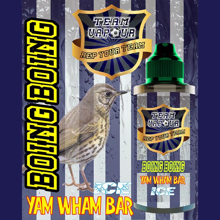 Boing Boing Yam Wham Bar Ice - Team Vapour e-liquid - 70% VG - 100ml