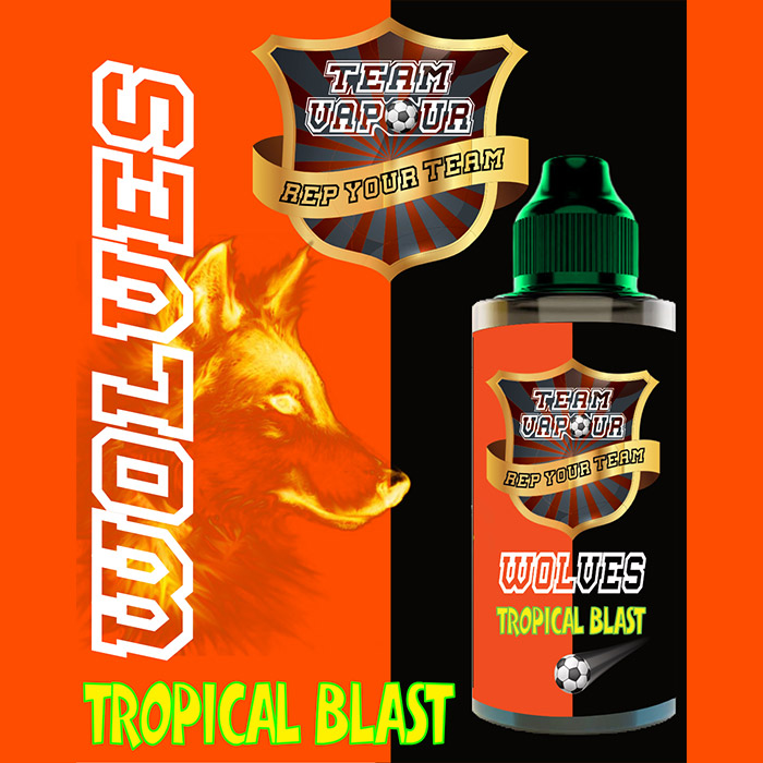 Wolves Tropical Blast - Team Vapour e-liquid - 70% VG - 100ml