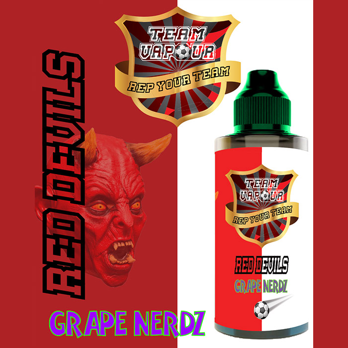 Red Devils Grape Nerdz - Team Vapour e-liquid - 70% VG - 100ml