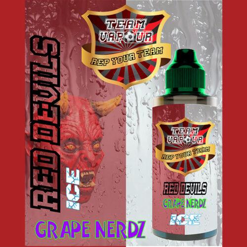 Red Devils Grape Nerdz Ice - Team Vapour e-liquid - 70% VG - 100ml