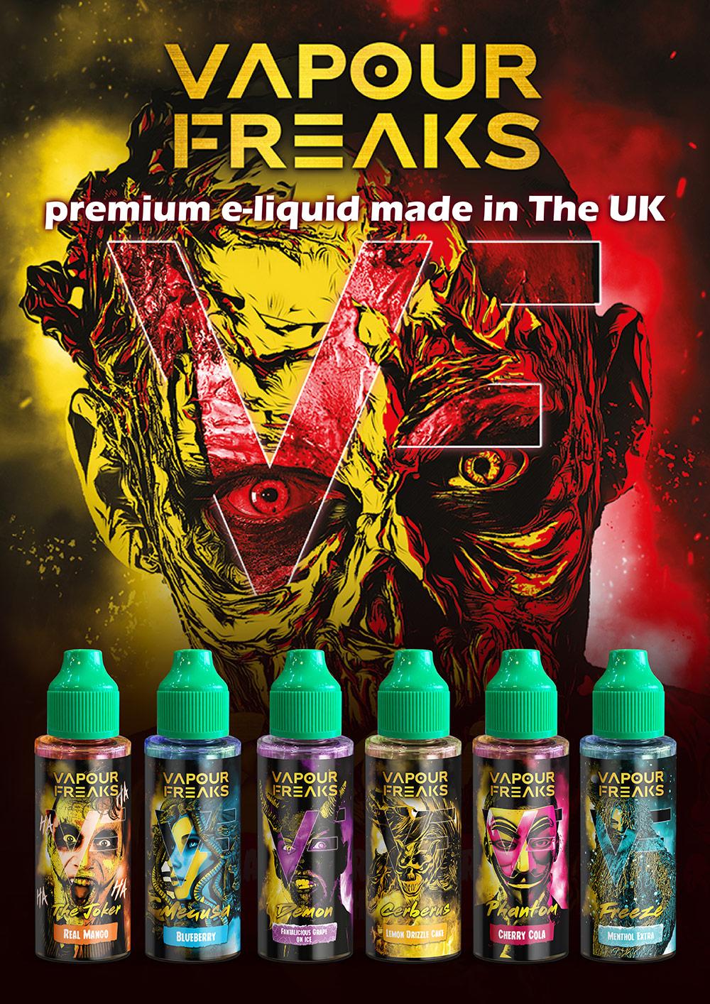 Buy Vapour Freaks e-liquids wholesale manufacturer distributor